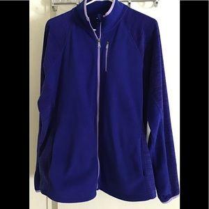 TEK GEAR jacket soft micro fiber size 1X blue